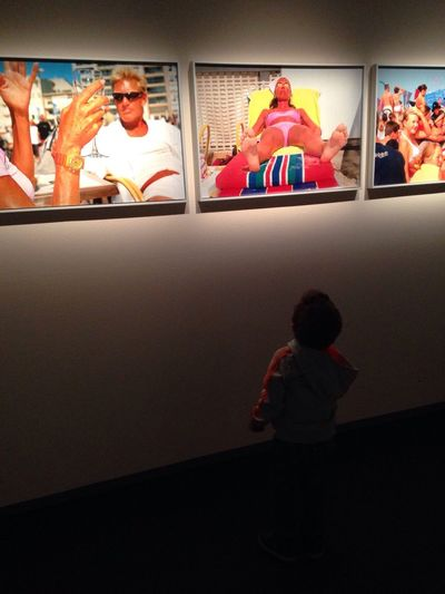 Martin Parr At An Exhibition at Fotografiska The Places I've Been Today