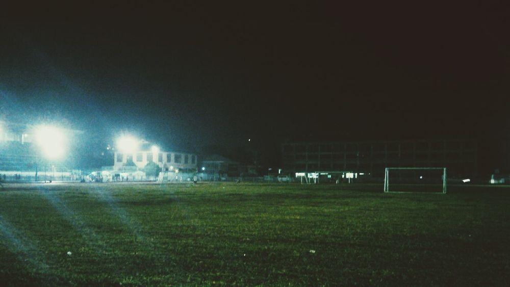 Sweaturday night.. Evening Jog Sports Center Soccer Field Restday Run