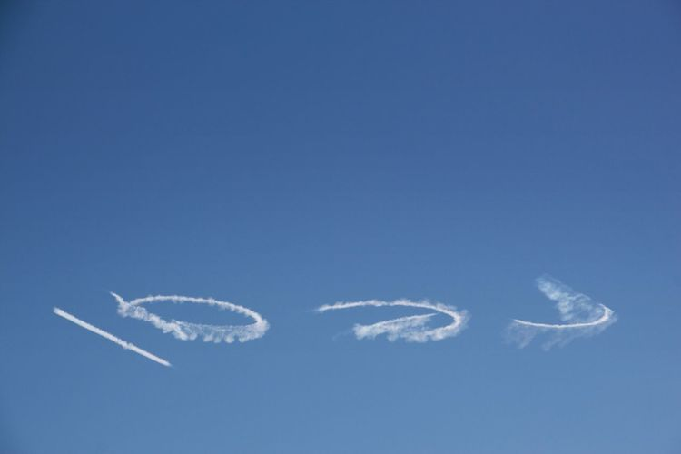 Real clouds Clouds And Sky Skywriting