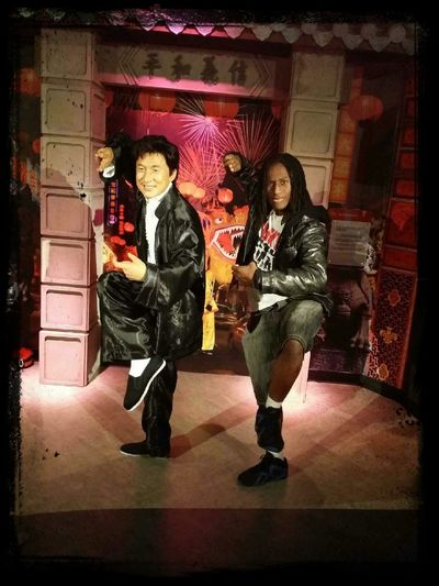Jackie Chan and I a while back at the Wax Museum First Eyeem Photo