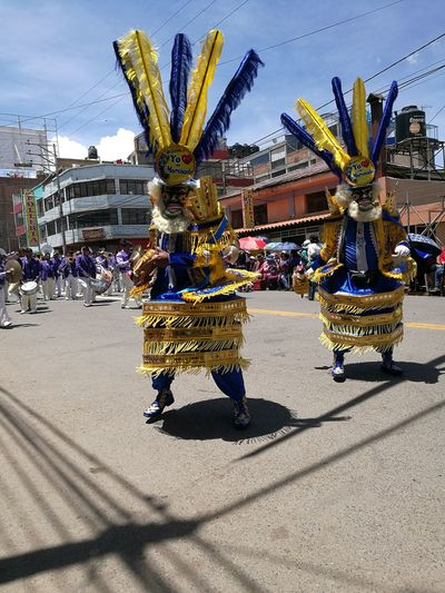 Celebration Building Exterior Gold Colored City Architecture Outdoors Built Structure Gold Day Sky Cultures Queen - Royal Person Candelaria2017 Dance Dancing Morenada Perú ❤ Puno, Perú Morenos Summer Exploratorium