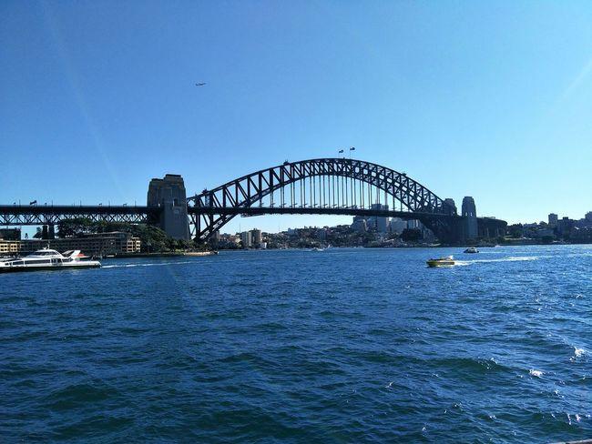 Sydney Harbour Bridge Clear Sky Water