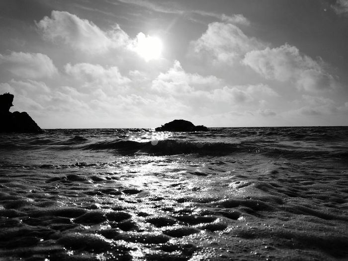 Llangranog beach Welsh Beaches Beach Phone Photography Blackandwhite Huawei P9 Leica