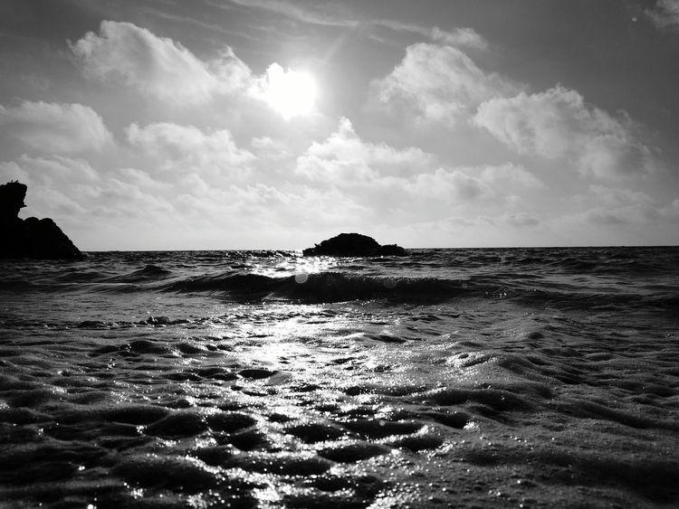 Llangranog beach Welsh Beaches Beach Phone Photography Blackandwhite Huawei P9 Leica