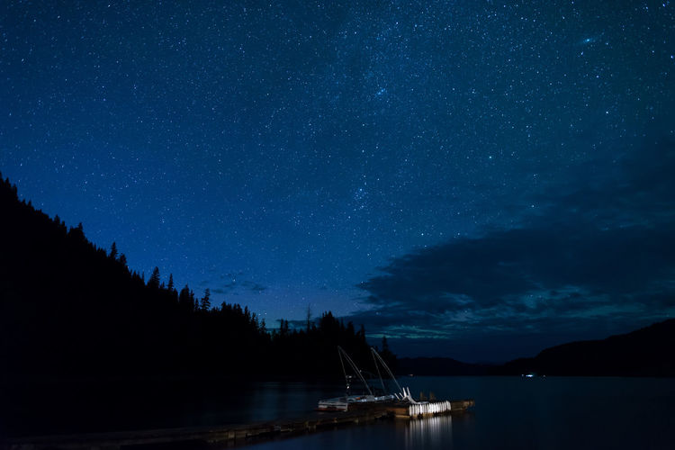 Canim Lake British Columbia Camping Lake Lake View 108 Mile Nightphotography Stars Night