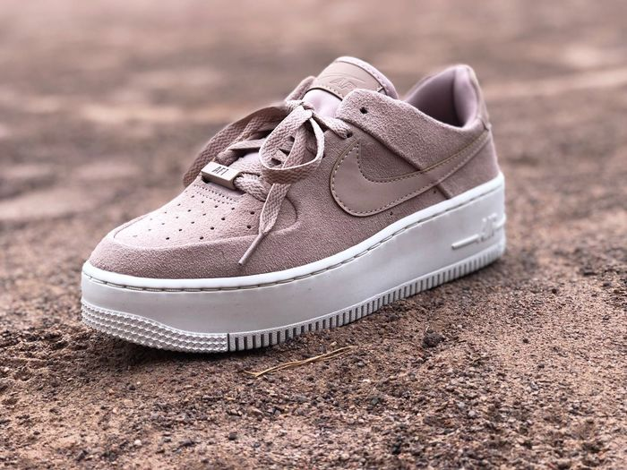 Sneakerlove Plateu Rosé EyeEmNewHere Sneakersaddict Sneakerhead  Sage Suede Leather Product Photography Airforce1 Airforce Nike Sneakershot Sneakers Shoes Shoe No People Fashion Compatibility Outdoors
