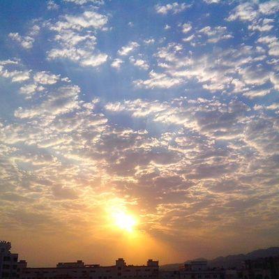 The clouds, the sun.... All so pretty....