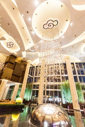 Architectural Column Architecture Built Structure Business Finance And Industry Casino Ceiling China City City City Of Dream City Of Dreams Cotai Cotai Strip Crown Dream Indoors  Low Angle View Luxury Macao  Macao China Macau Macau, China Melco Modern Travel