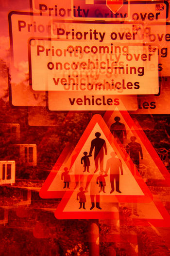 Future Eyes Lens Lomography Prism Prism Art Redscale Red Filter Group Of People Text Communication Western Script People Architecture Sign Adult Women Building Exterior Orange Color Men Built Structure Real People City Togetherness Staircase Group Red Walking