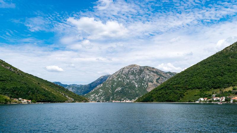 Boka Kotorska Cloud - Sky Landscape Montengro Mountain No People Sea Sea And Sky Seascape