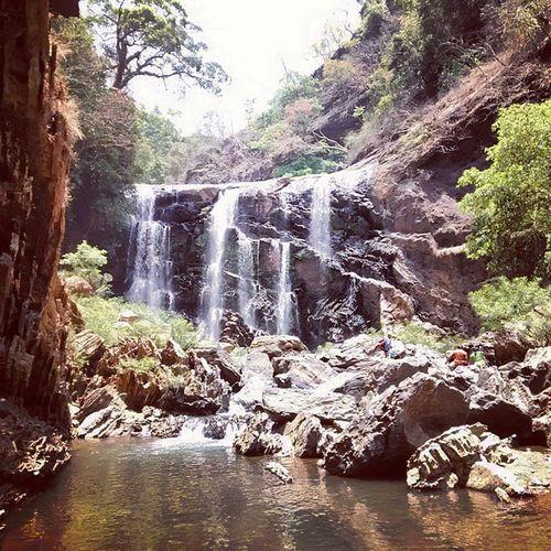 Satodifalls Uttarkannada Karnataka India Waterfall s Summer Sunny day Instaclick Instatravel Blackrock Westreghats Jungle Jungleriver Rockeymountains Forest