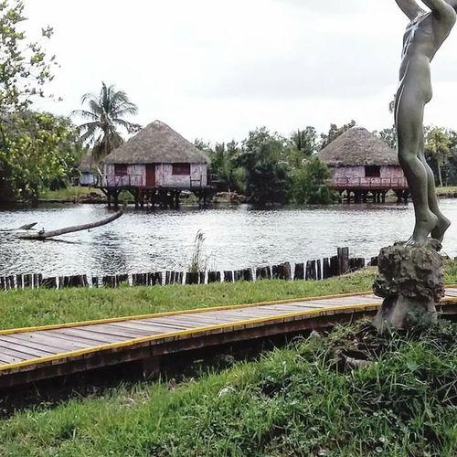 Laguna del Tesoro. Guamá. Matanzas. Cuba. Reconstrucción de aldea taína. ía. Civilizaciones Originarias. Nature