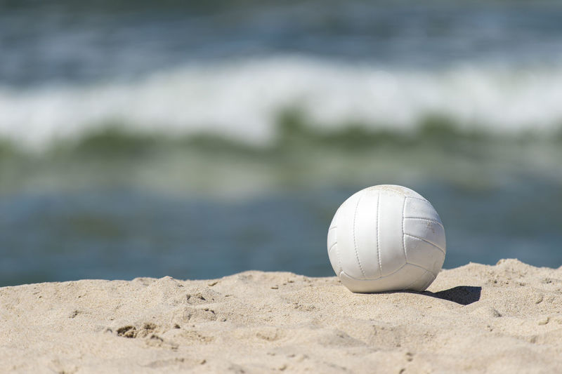 Close-up of ball on sand