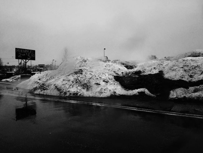 Remember Winter piles of Snow Rain Blackandwhite Monochrome Vscocam IPhoneography
