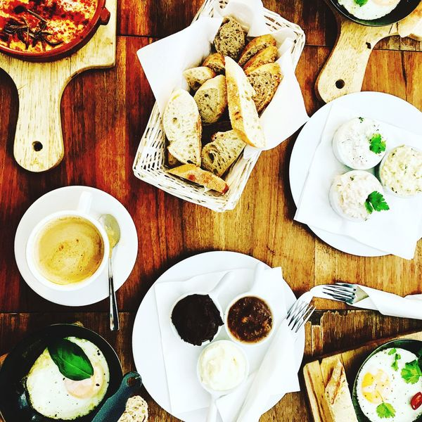 Food Table Healthy Eating Bread Breakfast Warsaw Poland Warsaw