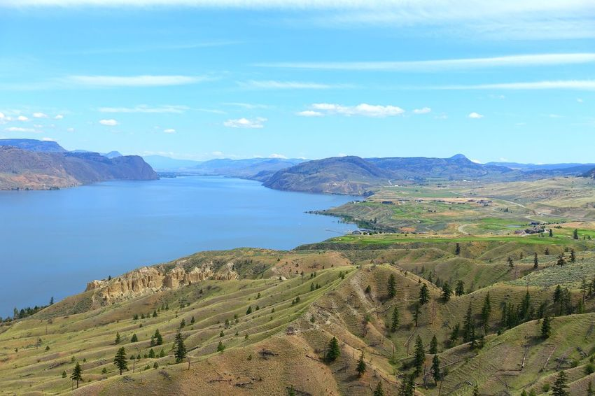 Kamloops Lake Kamloops Canada Road Tripping Exploring Abventure Travel Peaceful Landscape Lake Sky Mountain Nature