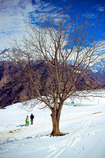 Couples-White-Blue. #AmitShawPhotog #auli #beautifulnature #Canon #canon600d #couple #India #Mountain #Nature  #snow #uttarakhand Cold Temperature Outdoors