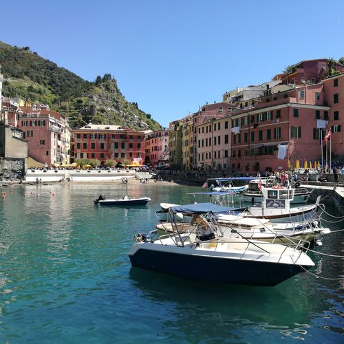 Cinque Terre town Water Waterfront Sunny Tourism Architecture Travel Destinations Vacations