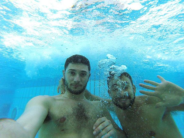 Underwater Portrait Mid Adult Men Only Men Looking At Camera Men Adult UnderSea Adults Only Swimming Two People Togetherness Real People People Sea Underwater Diving Nature Day Scuba Diving Water MyBoyFriend