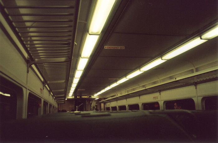 Alone Colors Empty Train Leading Lines Lonely Newark New Jersey Perspective Tree Brown Ceiling Empty Fluorescent Fluorescent Light Illuminated Indoors  Newar Nj Transportation