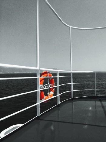 Ferry Boat Greece Summer Summertime Blackandwhite Colorsplash Colorsplasheffect