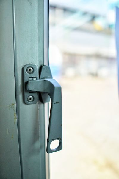 Latch Protection Hinge Door Safety Lock Metal Security Close-up