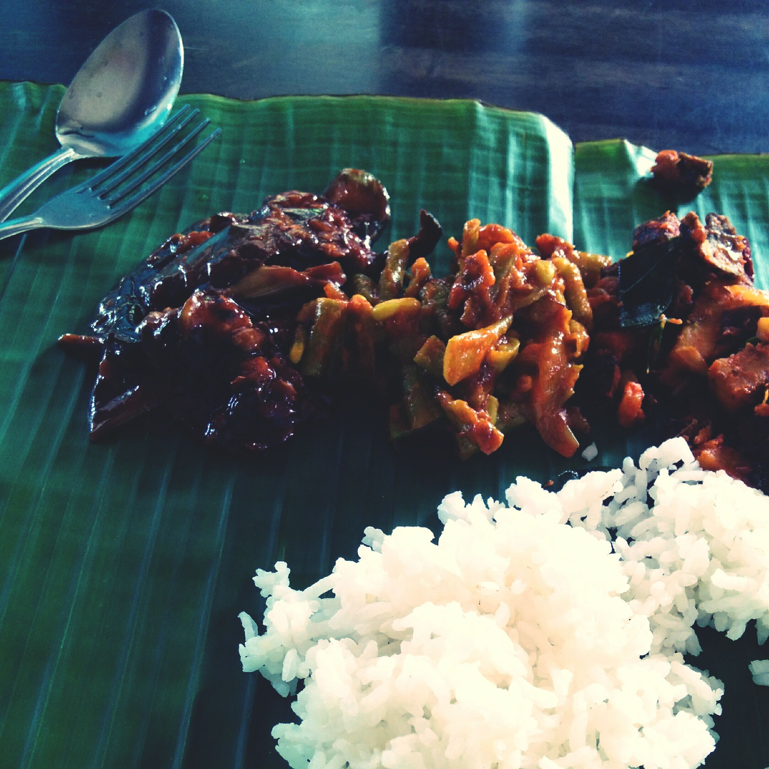 food and drink, food, freshness, no people, plate, ready-to-eat, banana leaf, healthy eating, indoors, close-up, day
