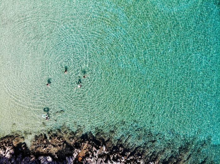 Paradise Beach Vacation Turquoise Water Clear Water Dronephotography Djimavicair Water Backgrounds Full Frame Close-up A New Perspective On Life
