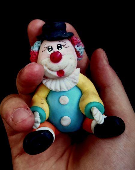 Clown Holding Hand Miniature