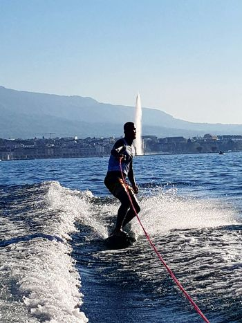 Geneva Lake Geneve, Switzerland Geneva Wakeboard Wake Wakesurfing Wakesurf Wakeboarding Geneva, Switzerland, Europe, European, Geneva Lake, Lake, Water, Seagulls, Birds, Mountains, Cloudy, Clouds Geneva On The Lake Jet D'Eau De Genève Genevafountain GenevaLife Wakeboard Lake Wakebording Wakeboarding❤ Sky Nature Clear Sky Athlete Sport Full Length People Wakeboarder Extreme Sports EyeEmNewHere Second Acts Be. Ready.