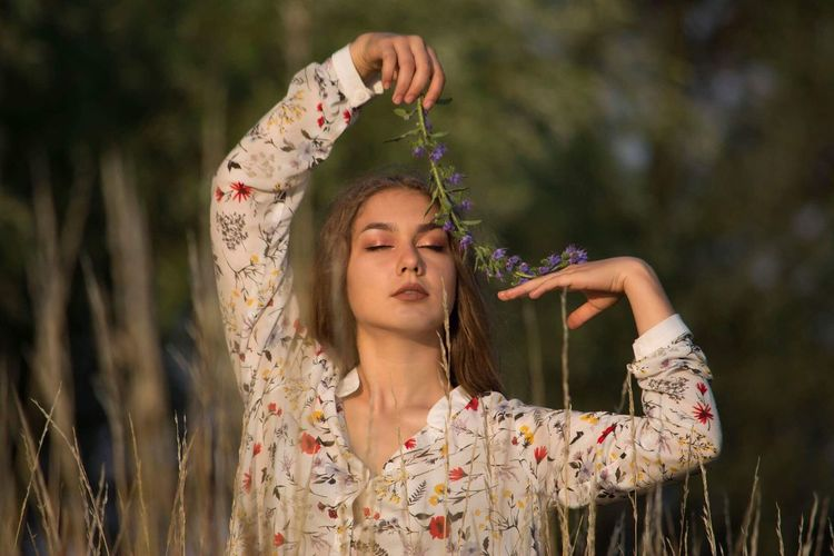 Hello World Ukraine Magic Moments Warm Atmosphere Eyes Closed  One Person Nature Beauty Outdoors Real People Long Hair Nature Taking Photos Great Atmosphere