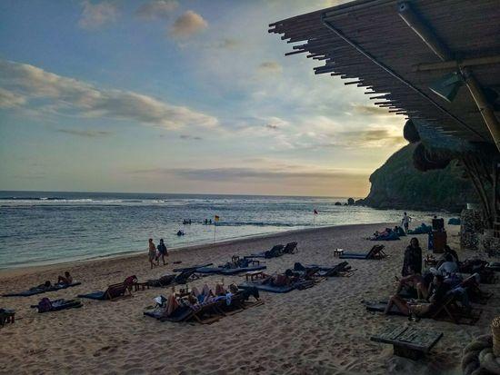 Southkuta Bali Mobilephotography Beach Sea Sand Horizon Over Water Sky Sunset Water Outdoors Nature Scenics Beauty In Nature