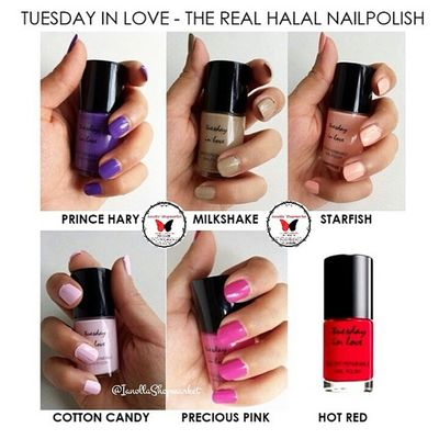☆TUESDAY IN LOVE ☆ Nailpolish … Finally, a nail polish for muslim women, Tuesday in Love is a Canadian company specializing in water permeable nail polishes … … KODE: 1 ⇨ PRINCE HARY 2 ⇨ MILKSHAKE 3 ⇨ STARFISH 4 ⇨ COTTON CANDY 5 ⇨ PRECIOUS PINK 6 ⇨ HOT RED … ⇨HALAL ⇨Bisa dibawa shalat ⇨Aman Dipakai utk Cewek muslim dan Anak2 ⇨Original 100% ⇨Mudah Dibersihkan ⇨Mudah Dikelupas, Bisa tanpa menggunakan Aseton ⇨Air dapat Menyerap ke Kuku ⇨Tidak Merusak Kuku … Minat? ⇨Line: ollabutterfly ⇨BBM: 7d317d9c ⇨Transfer only BCA and MANDIRI ⇨Serious Buyer Only Happy Shopping I`Shop ~ ❤ … Kuteks Nailpolish Inglot Inglotnailpolish kuteksinglot halal kutekshalal halalnailpolish muslim inglotmurah kuteksmurah opi rubi pokari kuteksoriginal originalnailpolish zoya enamel ollamossabil ianollashopmarket goshmurah Palangkaraya banjarmasin pontianak nyx balikpapan etude oriflame hijab tuesdayinlove