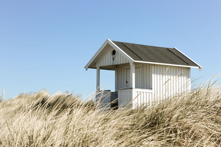Built Structure On Landscape Against Clear Sky