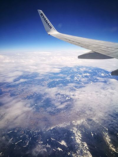 Airplane Flying Aircraft Wing Aerial View Travel Cloud - Sky Commercial Airplane Transportation Air Vehicle Sky No People Outdoors Day Aerospace Industry Airplane Wing