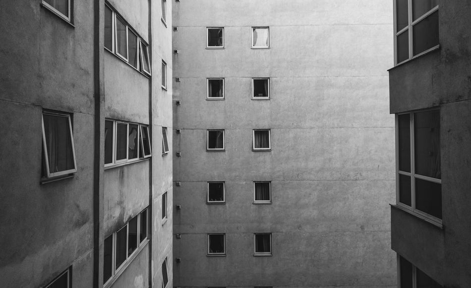 9th Floor Apartment Architectural Feature Architecture Architecture Balcony Blackandwhite Brutal Building Building Exterior Built Structure Cardiff City City Life Day Exterior In A Row No People Outdoors Repetition Simplicity Window