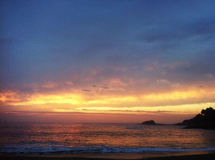 🌅 Enjoying The Sun Sea Sunset Silhouettes Paisaje Natural Summer Taking Photos Zapallar EyeEm