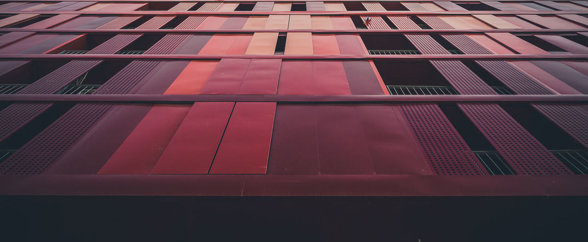 Pattern Pink Color Red Color Built Structure Outdoors Architecture Building Exterior No People EyeEmBestPics EyeEm Gallery EyeEm Best Shots Eyeemphotography Graphic Wall - Building Feature Building Feature Architecture Repetition Window Low Angle View Wide Angle View Large Format Minimalism Fine Art Photography Minimal Millennial Pink