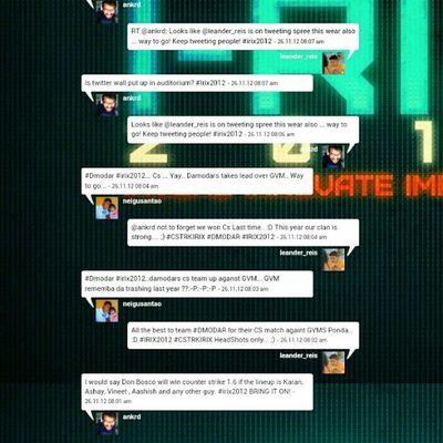 The offocial Tweet wall bit.ly/irixwall Irix2012 Dmodar