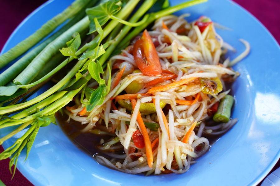 Somtum Pu-plarha Close-up Food Somtum Tard Somtum Thai Somtum Thai Kaikem Somtum Thai Somtumpuma Thai Food