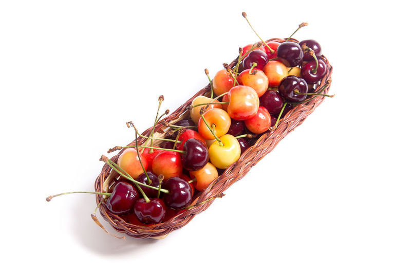 Bunch Cherry Close-up Copy Space Cut Out Food Food And Drink Freshness Fruit Healthy Eating Indoors  No People Red Ripe Still Life Studio Shot Tomato Vegetable Vegetarian Food Wellbeing White Background
