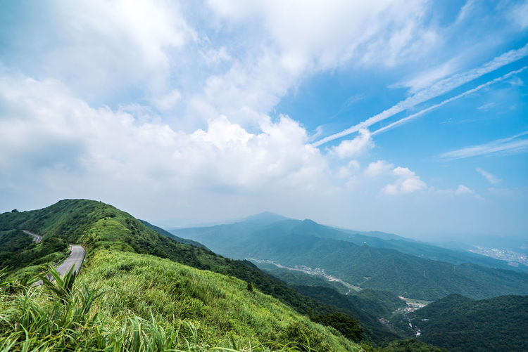 Cloud - Sky Mountain Beauty In Nature Scenics - Nature Tranquil Scene Tranquility Sky Non-urban Scene Environment Landscape Green Color Nature Mountain Range Idyllic Day No People Plant Tree Outdoors Remote