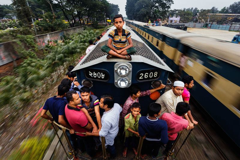 A journey to the home Documentary Photography Mobility In Mega Cities Documentary JakirHossainrana Large Group Of People Lifestyles Motion Outdoors People Real People Train Train - Vehicle Train Journey Stories From The City The Photojournalist - 2018 EyeEm Awards