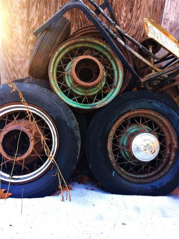 Lieblingsteil No People Close-up Outdoors Workshop Day Tire Maine Winter Tires Old Wheel Automobile Car EyeEmNewHere