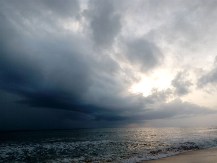 cloudy beach , 😂😂😂. Life Is A Beach Landscape Simple Quiet Love The Purist (no Edit, No Filter) Life Natural Beauty EyeEm Nature Lover EyeEm Masterclass Light And Shadow Mobilephotography Travel Nature Detail Majestic Nature Cloud Rainy Season Sea And Sky Sea Life Enchanting India Exceptional Photographs Water Sea Storm Cloud Cyclone Dramatic Sky Cloud - Sky Horizon Over Water Atmospheric Mood Calm Extreme Weather