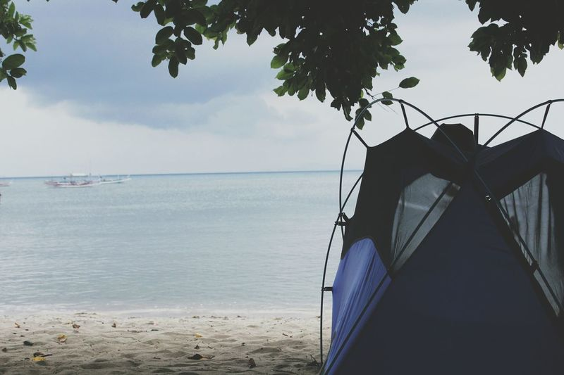 Sea Water Nature Sky Outdoors Tranquility Beauty In Nature EyeEmNewHere Coastal Feature Wave Tent Camping Live For The Story