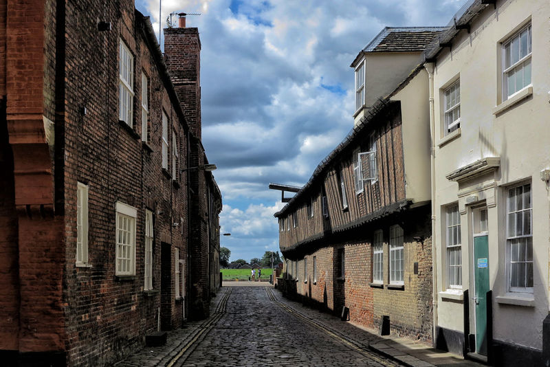 http://www.head-eye-heart.com Architecture Architecture Brick Building Building Exterior Built Structure Cheminée Cloud - Sky Day England Framing Historical Building King's Lynn Material Norfolk Old Town Outdoors Path Roof Sky Street The Way Forward Timber Windows