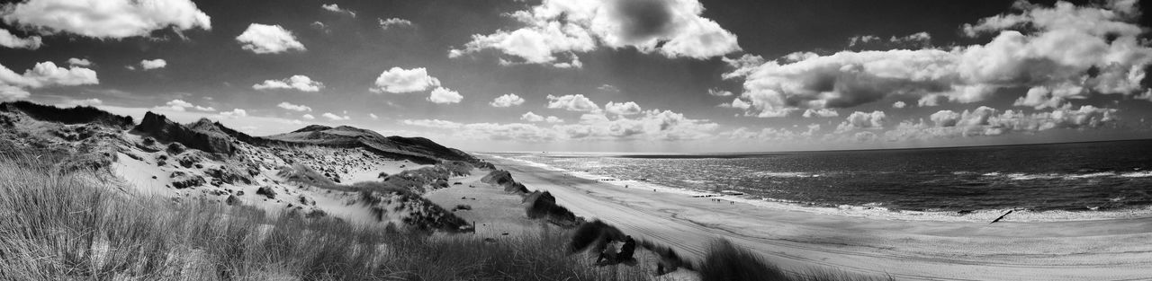 Kampen Weststrand Beach Beauty In Nature Black And White Blackandwhite Cloud - Sky Day Horizon Over Water Nature No People Outdoors Panoramic Scenics Sea Sky Sylt Tranquil Scene Tranquility Water