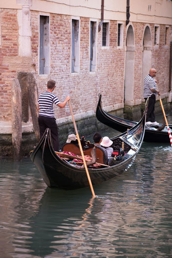 A Day in Venice Canal Full Length Gondola - Traditional Boat Gondolier Oar Outdoors Real People Transportation Travel Travel Destinations Travel Photography Water