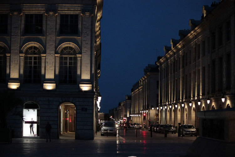 night scene in Orleans, France Abend Architecture Blaue Stunde Built Structure Calm cities ar night City City Life Evening Illuminated Lantern Laterne Light Night Orléans Outdoors Shadows Sky Street Travel Travel Photography